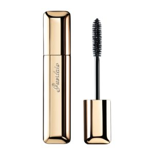 My favorite is Guerlain Maxi-Lash because the brush is perfect for making you look like you have longer lashes with a little volume. On my bottom lashes, I wiggle the brush to make a little line that's sublte.