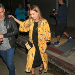Jessica wearing platforms and kimono