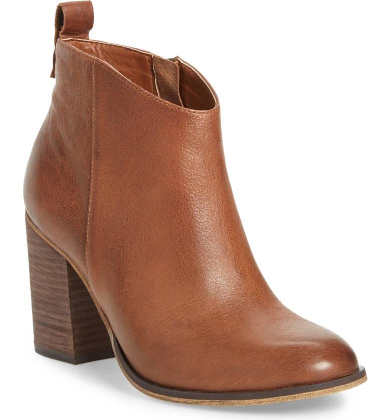Lance Block Heel Bootie - Cognac Oiled Leather