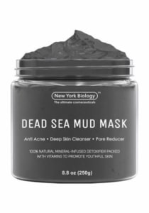 New York Biology Dead Sea Mud Mask for Face and Body - Spa Quality Pore Reducer for Acne, Blackheads...