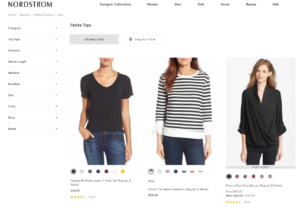 Nordstrom Petite selection