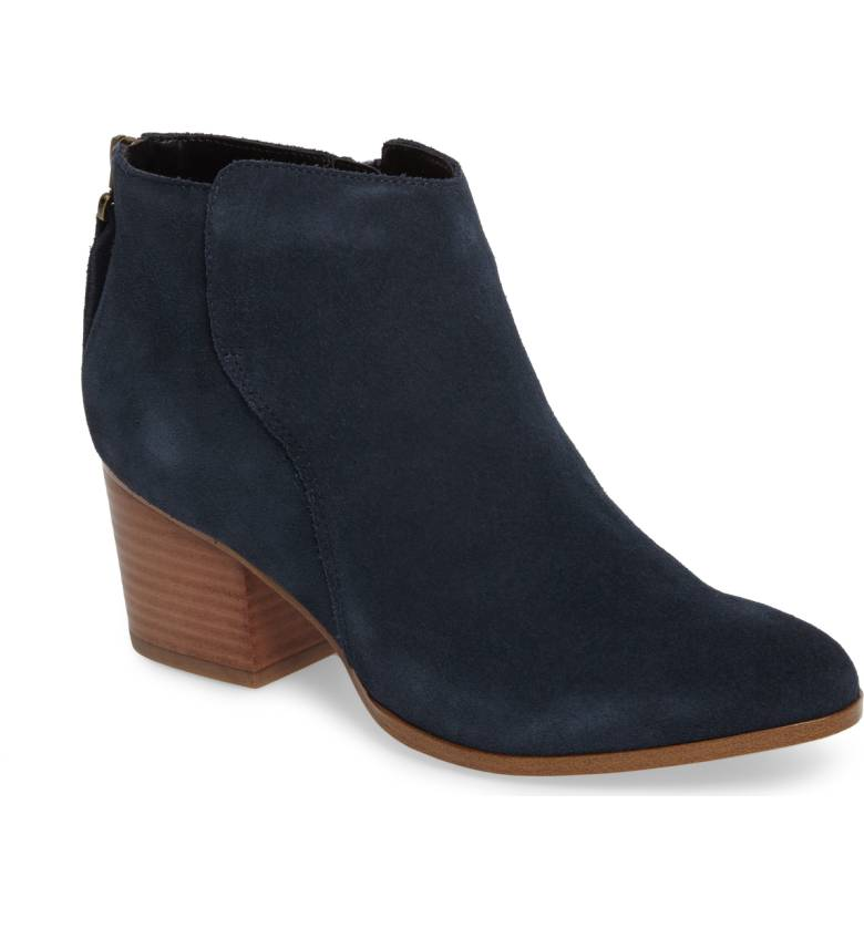 Sole Society River Bootie - Ink Suede