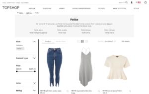 Topshop petite online shopping