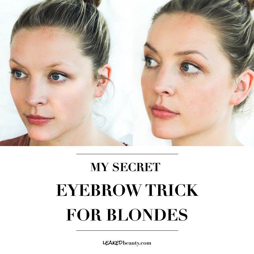 Anastasia blonde eyebrow tutorial