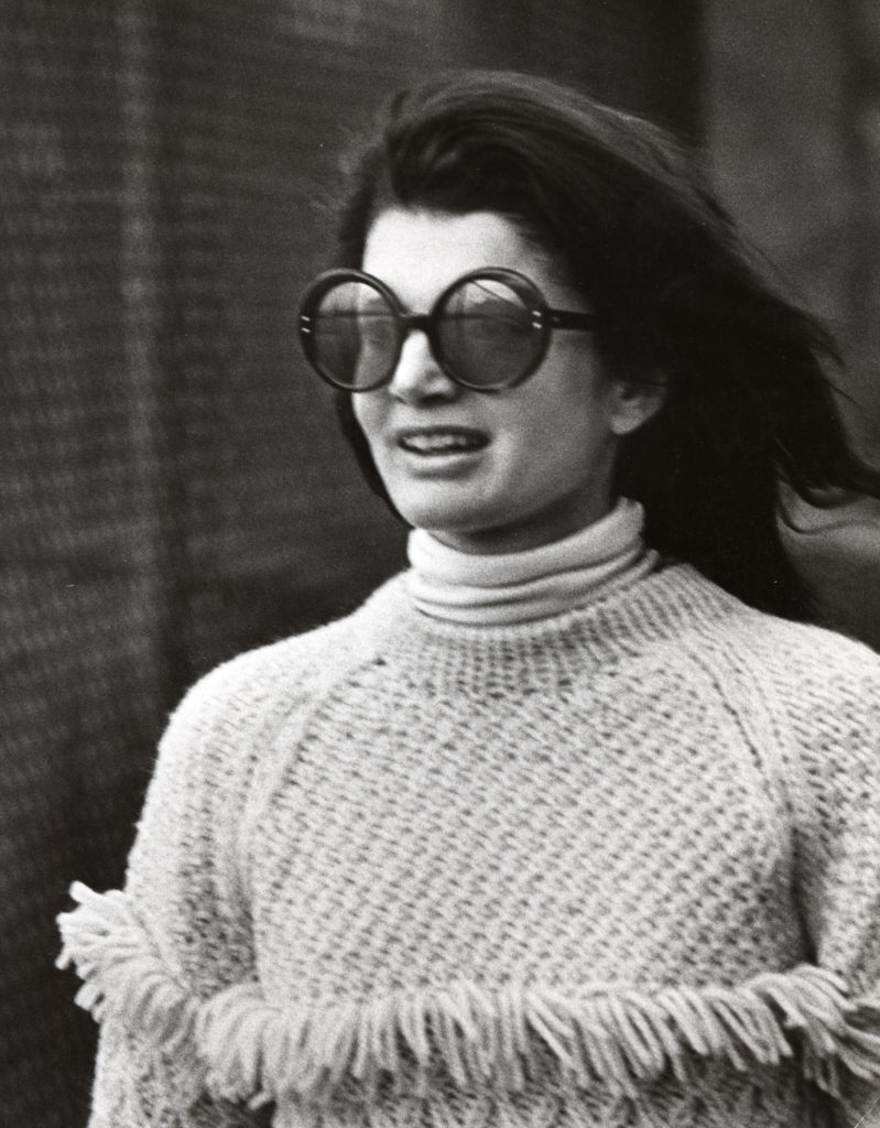 Jackie O with over sized sunglasses