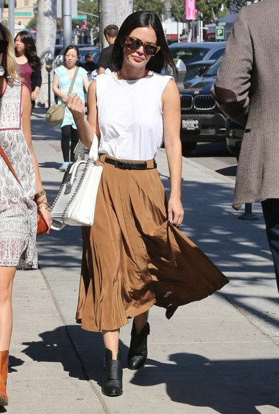 Rachel Bilson brown skirt 2