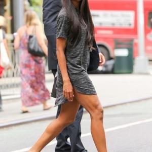 Ciara in Black T-shirt dress