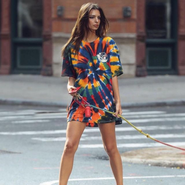 Em Rata in Over-sized Tie-dye shirt