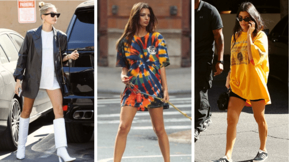 T Shirt Dresses Celebrity Style