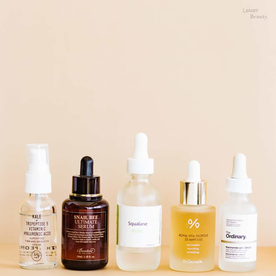 Fungal Acne safe serums and ampoules